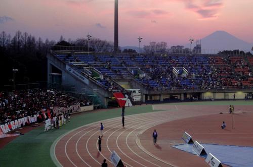 BMWスタジアム平塚の夕景