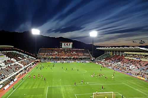 201704IAIスタジアム日本平の夕景