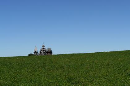 キジ島(ロシア)の木造教会