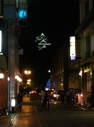 ライトアップされた熊本城